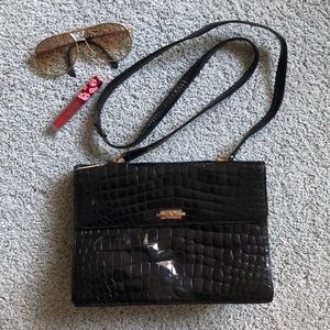 Handbags - Genuine Crocodile black vintage made in Italy bag